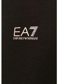 Czarne legginsy EA7 Emporio Armani z podwyższonym stanem