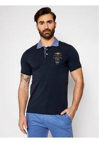 Niebieska koszulka polo Aeronautica Militare polo
