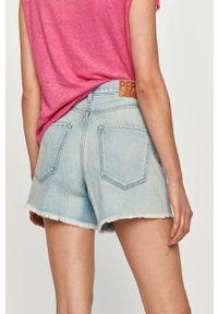Pepe Jeans - Szorty jeansowe Rachel. Okazja: na co dzień. Kolor: niebieski. Materiał: bawełna. Styl: casual