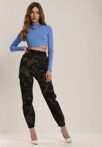 Renee - Czarne Spodnie Bojówki Bathixie. Kolor: czarny #3