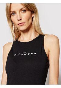 Czarna sukienka John Richmond prosta, na co dzień
