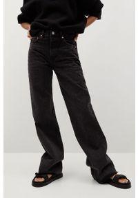 Szare jeansy loose fit mango gładkie