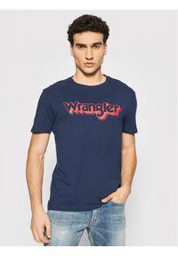 Wrangler T-Shirt Ss Logo Tee W7J4D3114 Granatowy Regular Fit. Kolor: niebieski