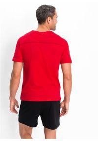 Piżama z krótkimi spodenkami bonprix czerwono-czarny. Kolor: czerwony. Długość: krótkie