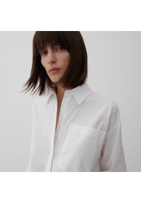 Reserved - Bawełniana koszula - Biały. Kolor: biały. Materiał: bawełna