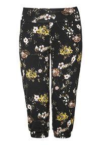Czarne spodnie Zhenzi w kwiaty