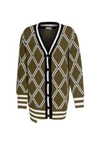 Sweter MRZ z klasycznym kołnierzykiem, klasyczny, w prążki