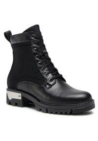 Czarne buty trekkingowe Simen