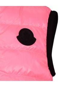 MONCLER KIDS - Różowa kamizelka puchowa Artemas 4-12 lat. Okazja: na uczelnię, na spacer. Kolor: fioletowy, różowy, wielokolorowy. Materiał: puch. Wzór: aplikacja. Sezon: lato