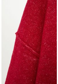 Różowy sweter mango z golfem, z długim rękawem