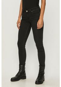 Czarne jeansy Lee z podwyższonym stanem