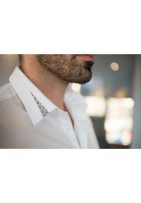 Biała koszula VEVA z długim rękawem, długa, elegancka