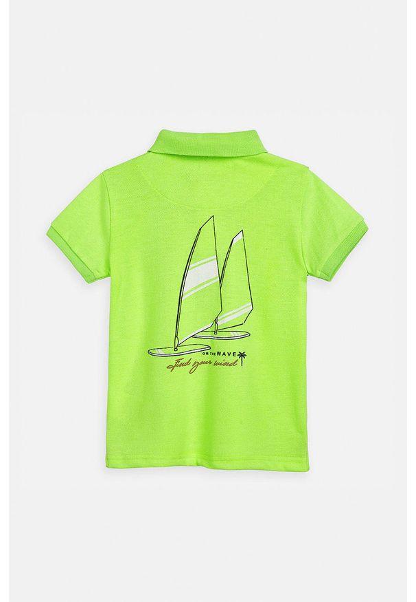 T-shirt polo Mayoral na co dzień, z aplikacjami, krótki, polo