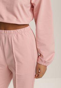 Renee - Różowy Komplet Dresowy Dwuczęściowy Iphoche. Kolor: różowy. Materiał: dresówka