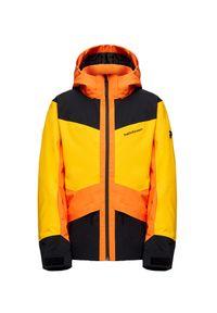 Żółta kurtka narciarska Peak Performance