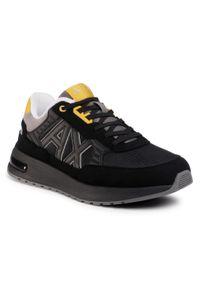 Czarne sneakersy Armani Exchange z cholewką