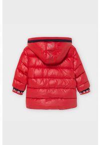 Czerwona kurtka Mayoral casualowa, z kapturem, na co dzień