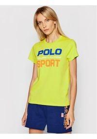 Polo Ralph Lauren T-Shirt Ssl 211838079006 Zielony Regular Fit. Typ kołnierza: polo. Kolor: zielony