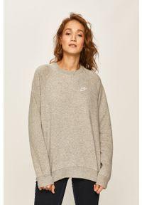 Nike Sportswear - Bluza. Okazja: na co dzień. Kolor: szary. Materiał: dzianina. Długość rękawa: raglanowy rękaw. Styl: casual