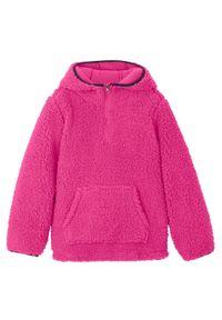 Różowa bluza bonprix z kapturem, na zimę