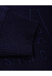 GANT - Granatowy bluza z monochromatycznym logo. Kolor: niebieski. Materiał: bawełna, dresówka. Długość rękawa: długi rękaw. Długość: długie #4