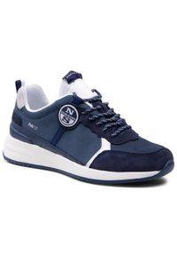 North Sails Sneakersy RW/01 Base -005 Granatowy. Kolor: niebieski