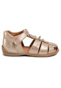 Złote sandały Froddo z aplikacjami, na lato