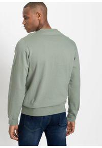 Bluza z łatwej w pielęgnacji bawełny bonprix dymny zielony z nadrukiem. Kolor: zielony. Materiał: bawełna. Wzór: nadruk #6