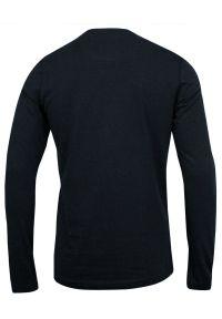 Brave Soul - Koszulka Granatowa z Długim Rękawem, Longsleeve, T-shirt Męski -BRAVE SOUL. Okazja: na co dzień. Kolor: niebieski. Materiał: bawełna. Długość rękawa: długi rękaw. Długość: długie. Styl: casual