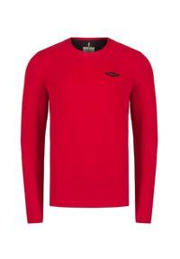 Aeronautica Militare - T-shirt z długim rękawem AERONAUTICA MILITARE. Materiał: prążkowany, bawełna. Długość rękawa: długi rękaw. Długość: długie. Wzór: jednolity, aplikacja