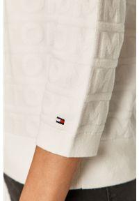 Biały sweter TOMMY HILFIGER na co dzień, casualowy