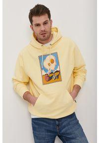 Volcom - Bluza. Kolor: żółty. Wzór: nadruk