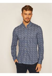 Baldessarini Koszula Brad 51000/0014 Granatowy Regular Fit. Kolor: niebieski