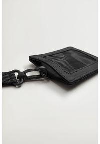 Czarny portfel Mango Man gładki