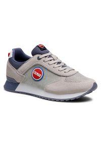 Colmar - Sneakersy COLMAR - Travis Color 002 Lt Gray/Dusty Blue. Okazja: na co dzień. Kolor: szary. Materiał: zamsz, materiał. Szerokość cholewki: normalna. Styl: casual