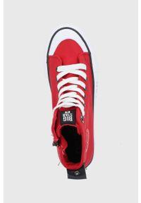 Big-Star - Big Star - Trampki. Nosek buta: okrągły. Zapięcie: sznurówki. Kolor: czerwony. Materiał: guma. Szerokość cholewki: normalna. Obcas: na platformie