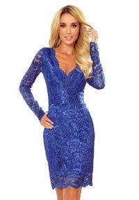 Niebieska sukienka Numoco wizytowa