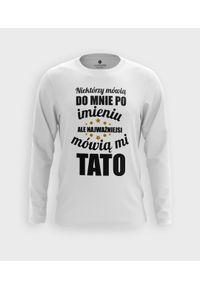MegaKoszulki - Koszulka męska z dł. rękawem Najważniejsi mówią mi. Materiał: bawełna