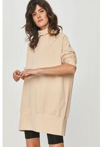 Beżowa bluza Answear Lab gładkie, wakacyjna, bez kaptura