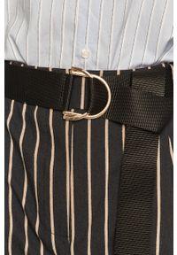 Czarne szorty Silvian Heach klasyczne, z podwyższonym stanem, na co dzień