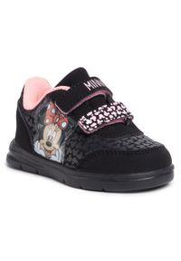 Czarne półbuty Mickey&Friends na rzepy, z cholewką, na spacer