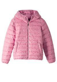 Różowy płaszcz bonprix z nadrukiem