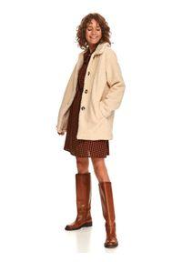 TOP SECRET - Luźna kurtka z boucle. Kolor: beżowy