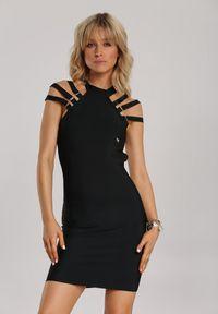Renee - Czarna Sukienka Dioles. Typ kołnierza: dekolt halter. Kolor: czarny. Długość: mini