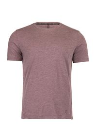 Różowy t-shirt On Running casualowy, na co dzień