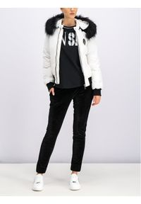 Biała kurtka zimowa Plein Sport sportowa