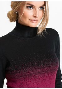 Czarny sweter bonprix z golfem