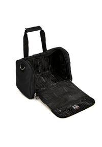 Czarna torba podróżna Wittchen z haftami, casualowa