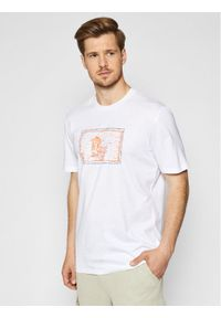 Only & Sons T-Shirt Aca 22019295 Biały Regular Fit. Kolor: biały