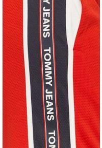 Czerwone szorty Tommy Jeans na co dzień, casualowe